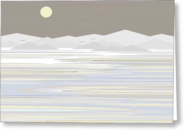 Snow Abstract Greeting Cards - Snow and Ice - Gray Sky Greeting Card by Val Arie