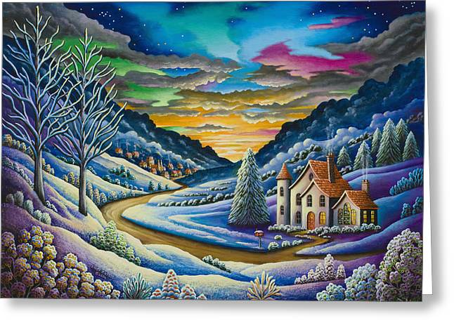 Imagined Landscapes Greeting Cards - Snow Greeting Card by Andy Russell