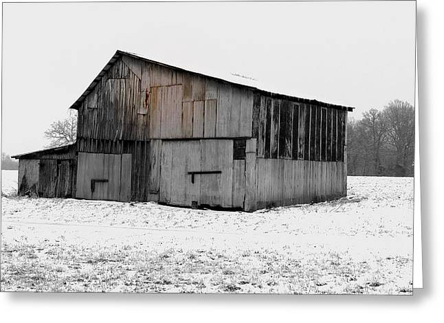 Tennessee Barn Greeting Cards - Snow Greeting Card by Anthony Jones