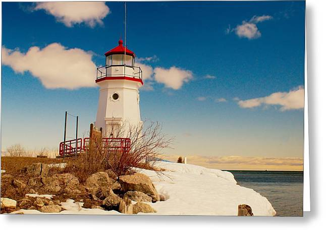 Winter Travel Greeting Cards - Snow at Cheboygan Crib Greeting Card by Nick Zelinsky