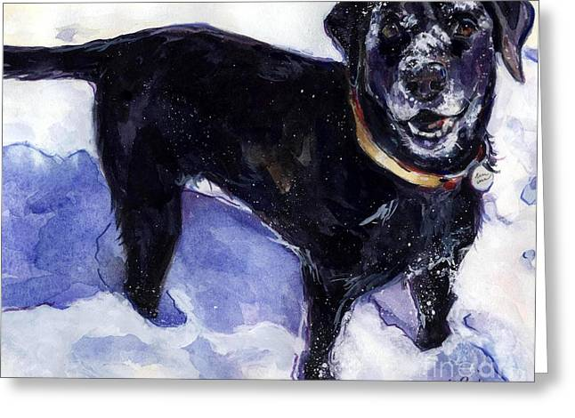 Snow Belle Greeting Card by Molly Poole