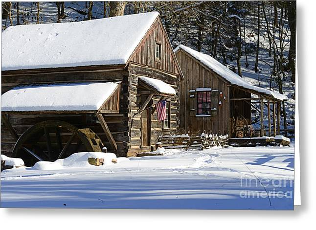 Snow Scene Landscape Greeting Cards - Snow Bound Greeting Card by Paul Ward