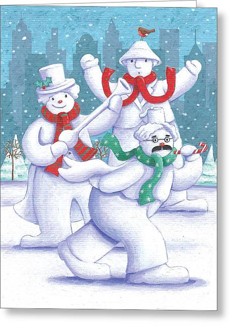 Marx Brothers Greeting Cards - Snow Business Marx Brothers Greeting Card by Peter Adderley