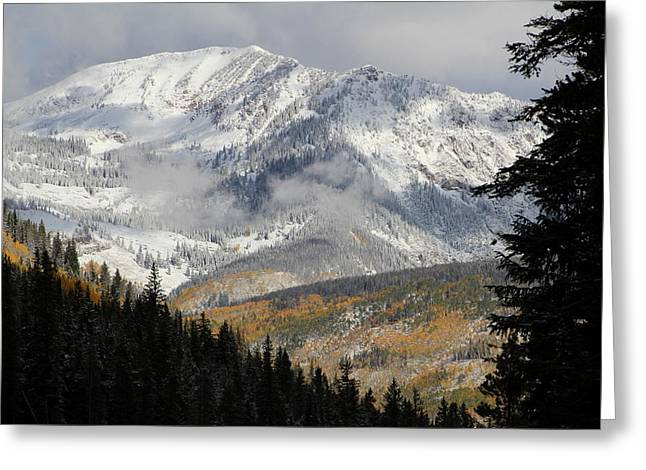 Fall Scenes Greeting Cards - Snow Capped Beauty Greeting Card by Fiona Kennard