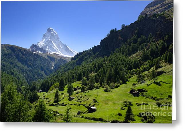 Snow-capped matterhorn Greeting Card by Mats Silvan