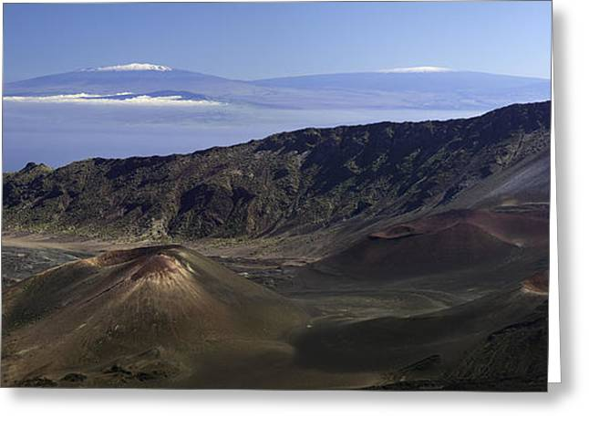 Photogaph Greeting Cards - Snow Capped Mountains in Hawaii Greeting Card by Frank Wicker