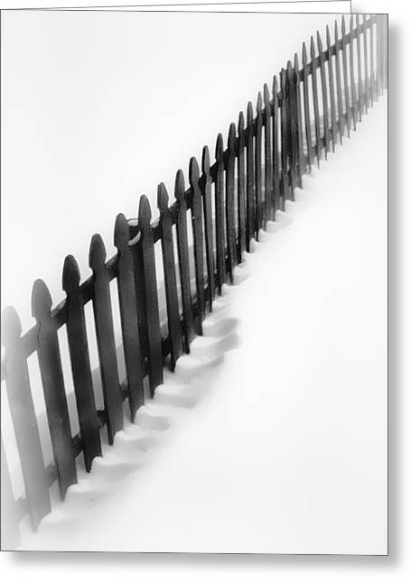Crooked Fence Greeting Cards - Snow Comb Greeting Card by Greg Jackson