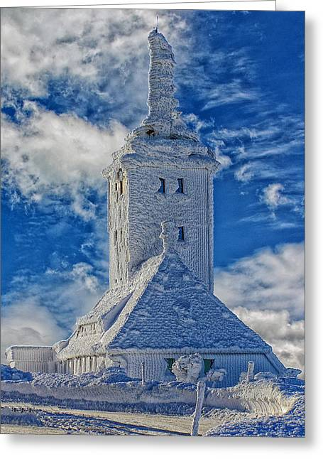 Saxony Greeting Cards - Snow Covered Church Greeting Card by Mountain Dreams