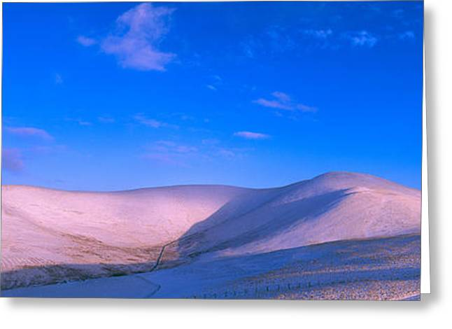 Border Photographs Greeting Cards - Snow Covered Hill, Trahenna Hill Greeting Card by Panoramic Images