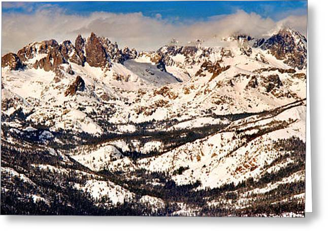 Snow Covered Landscape, Mammoth Lakes Greeting Card by Panoramic Images