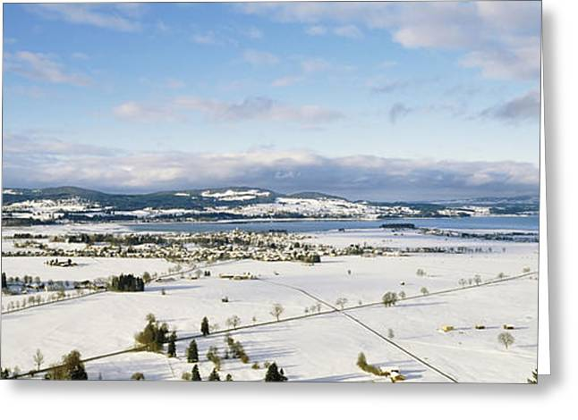 Snow Scene Landscape Greeting Cards - Snow Covered Landscape, View Greeting Card by Panoramic Images