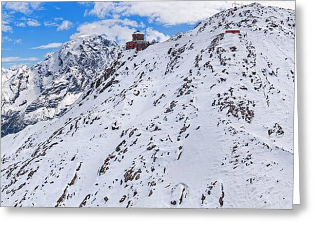 Dellos Greeting Cards - Snow Covered Mountain Range, Stelvio Greeting Card by Panoramic Images