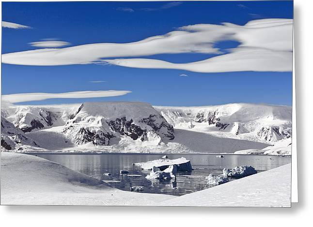 Snow-covered Mountains Antarctica Greeting Card by Erik Joosten