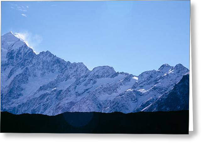 Panorama Mountain Images Greeting Cards - Snow Covered Mountains, Mt. Tutoko Greeting Card by Panoramic Images