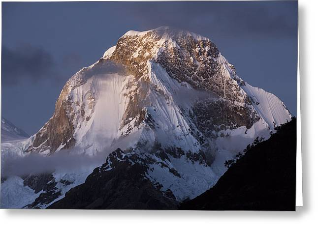 Snow-covered Peaks Huscaran Mountain Greeting Card by Cyril Ruoso