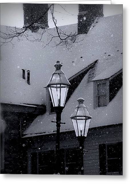 Moravian Greeting Cards - Snow Day Greeting Card by DJ Florek