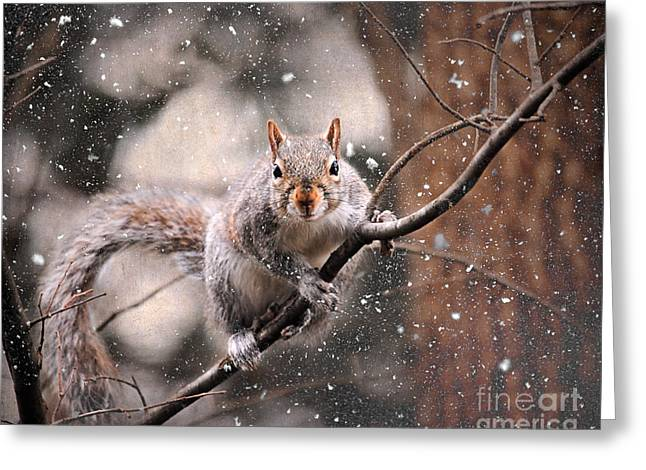 Snow Day Greeting Cards - Snow Day Greeting Card by Jai Johnson