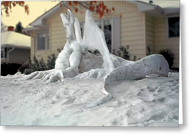 Dreamy Photographs Greeting Cards - Snow Dragon 4 Greeting Card by Terry Reynoldson