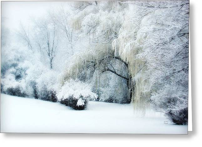 Julie Palencia Greeting Cards - Snow Dream Greeting Card by Julie Palencia
