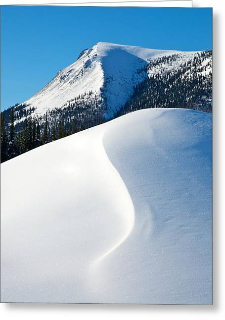 Snow Drifts Digital Art Greeting Cards - Snow Drift and Mountain Greeting Card by Jim Kuchler