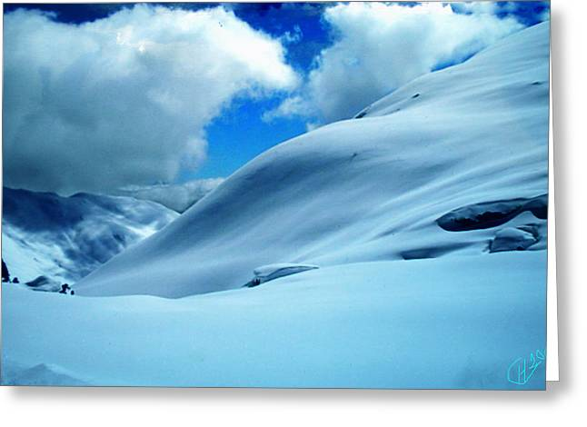 print Photographs Greeting Cards - Snow Face in the  Mountain Greeting Card by Colette V Hera  Guggenheim