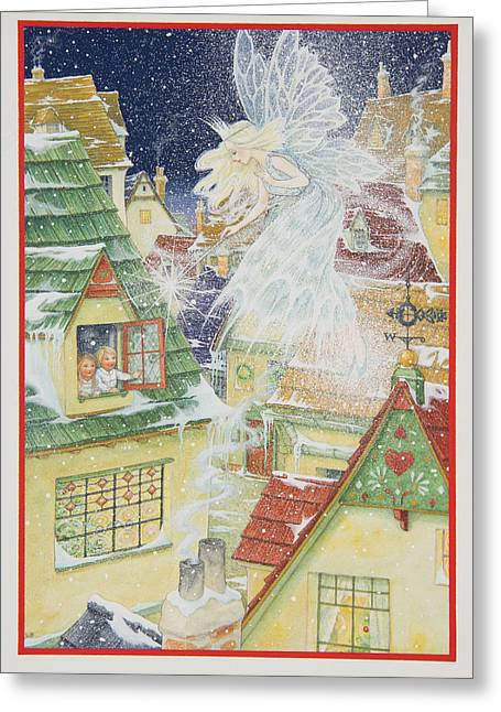 Fairies Greeting Cards - Snow Fairy Greeting Card by Lynn Bywaters