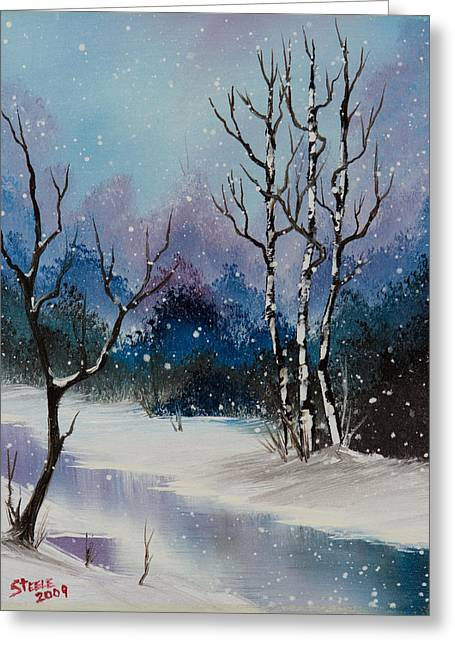 Winter Enchantment II Greeting Card by C Steele
