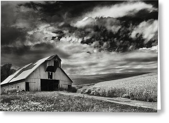Thunderstorm Greeting Cards - a used Barn Greeting Card by Latah Trail Foundation