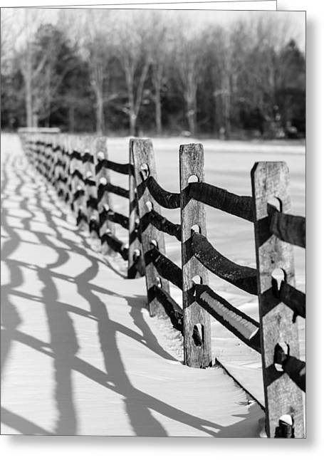 Fence Row Greeting Cards - Snow Fence Greeting Card by Scott Hafer