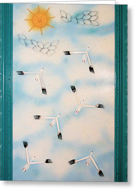 Crush Creations Greeting Cards - Snow Geese Return Greeting Card by Crush Creations