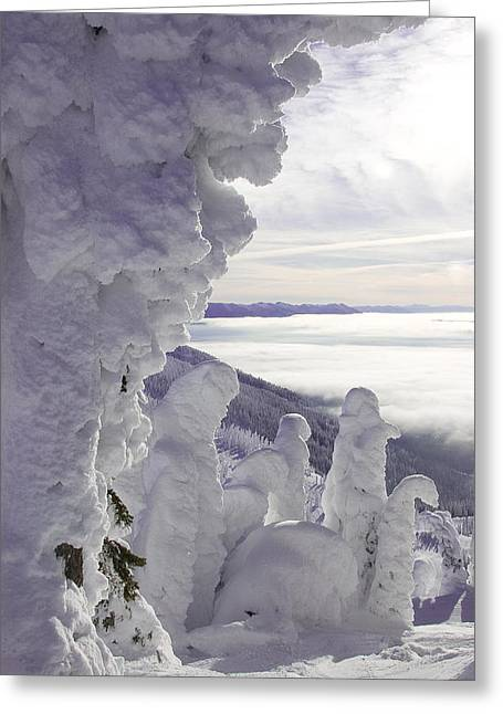 Inversion Greeting Cards - Snow Ghosts Greeting Card by Beth Marshall