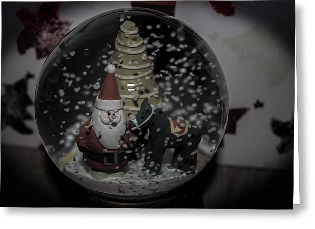 Family Love Greeting Cards - Snow Globe Greeting Card by Martin Newman