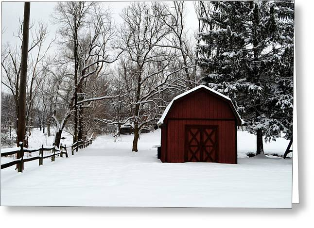 White As Snow Greeting Cards - Snow Has Fallen Greeting Card by Jeanne Geidel-Neal