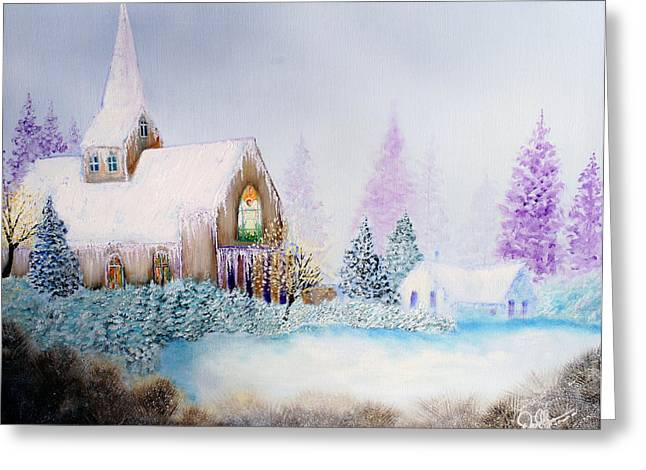 Bob Ross Paintings Greeting Cards - Snow in Florida Greeting Card by David Kacey