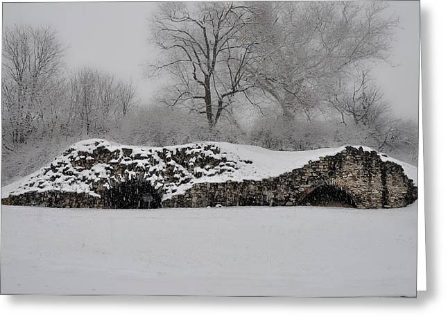 Germantown Greeting Cards - Snow in Plymouth Meeting Pa Greeting Card by Bill Cannon