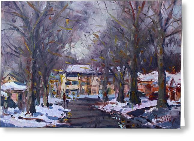 Snow In Silverado Dr Greeting Card by Ylli Haruni