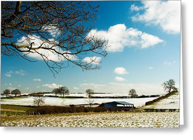 Barn Covered In Snow Greeting Cards - Snow in Spring Greeting Card by Steven Garratt