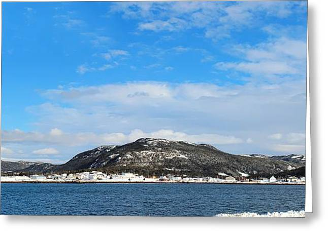 The Church Greeting Cards - Snow in the Harbour Greeting Card by Barbara Griffin