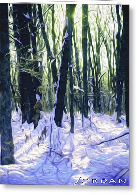 Snow Drifts Digital Art Greeting Cards - Snow in the Quiet Morning Greeting Card by David Jordan