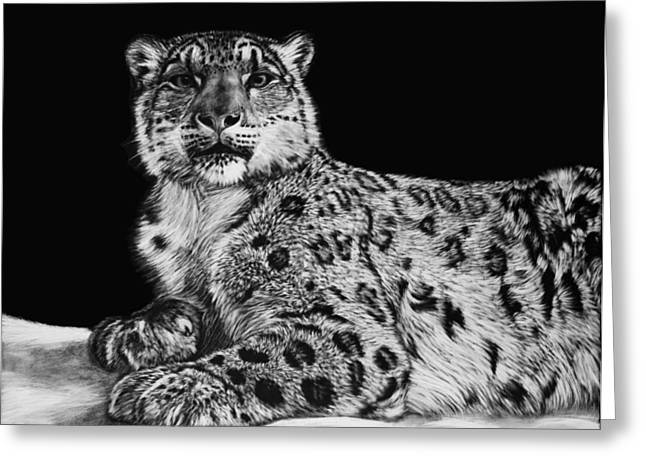 Snow King Greeting Card by Heather Ward