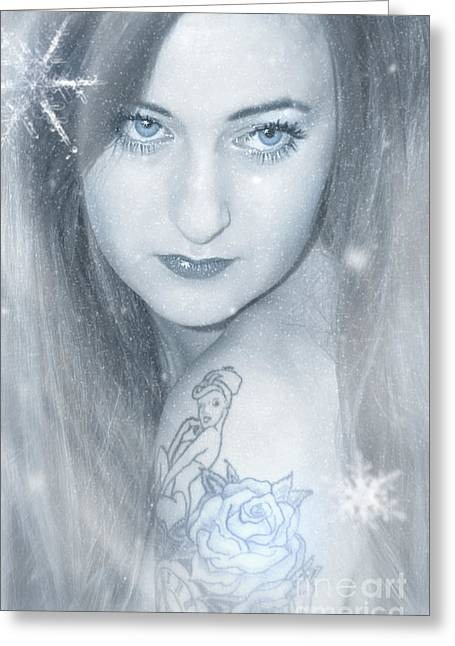 Snow Lady Greeting Card by Svetlana Sewell