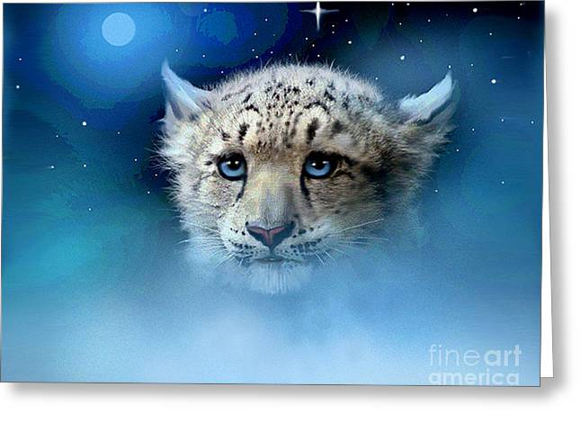 Robert Foster Greeting Cards - Snow Leopard Cub Greeting Card by Robert Foster