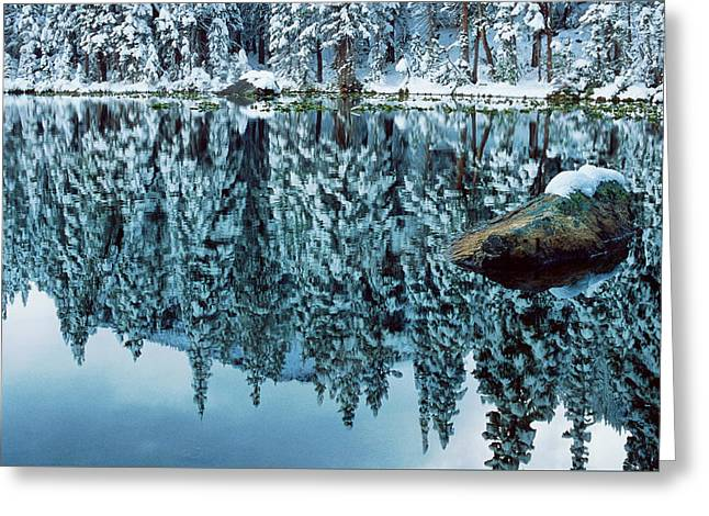 Snow Mirror Greeting Card by Eric Glaser