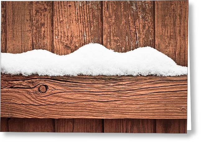 Temperature Greeting Cards - Snow on fence Greeting Card by Tom Gowanlock