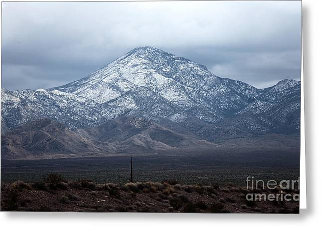 Snow Capped Greeting Cards - Snow on Mount Charleston Greeting Card by John Rizzuto