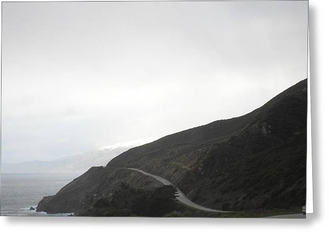 Coast Highway One Greeting Cards - Snow on Sur Greeting Card by Laura Young