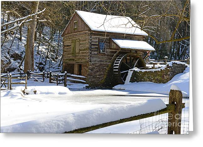 Snow Scene Landscape Greeting Cards - Snow on the Fence Greeting Card by Paul Ward