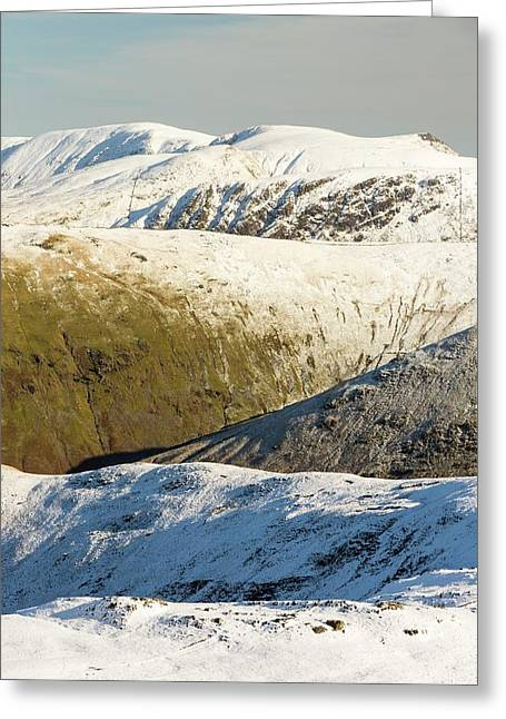 Snow On The High Street Fells Greeting Card by Ashley Cooper