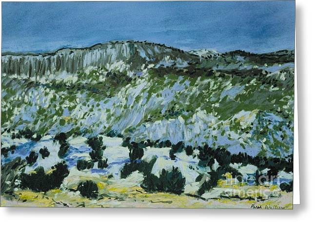 Snow Scene Landscape Pastels Greeting Cards - Snow on the Jemez Greeting Card by Ralph Williams