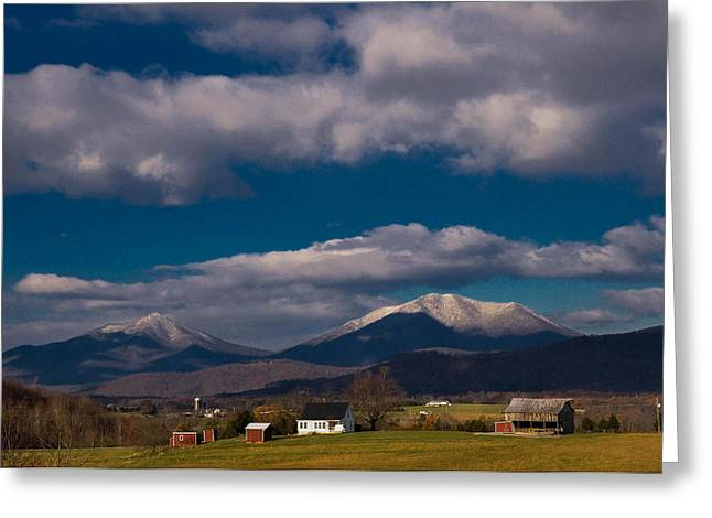 Bedford Hills Greeting Cards - Snow On The Mountains Greeting Card by Sherri Quick